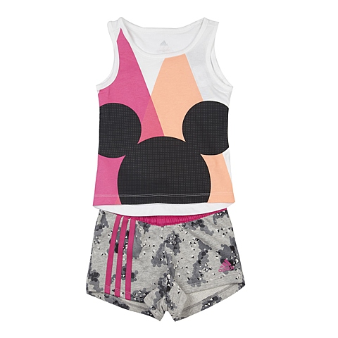 adidas阿迪达斯新款专柜同款女小童迪士尼系列短袖套服AJ4080