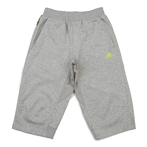 adidas阿迪达斯新款专柜同款男大童针织七分裤AP6553