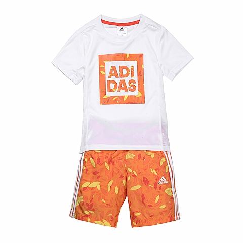 adidas阿迪达斯新款专柜同款男小童短袖套服B43946