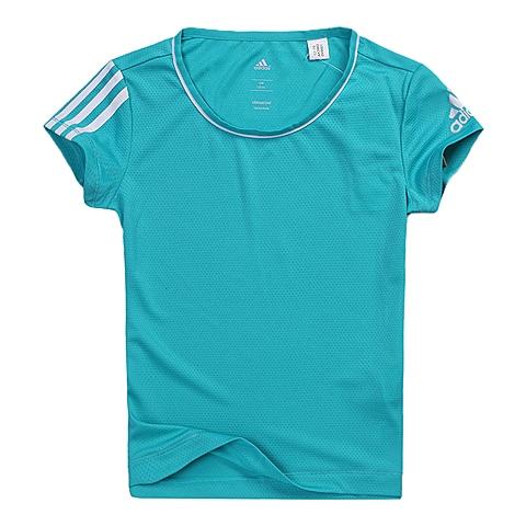 adidas阿迪达斯新款专柜同款女大童CLIMA系列短袖T恤AK2662