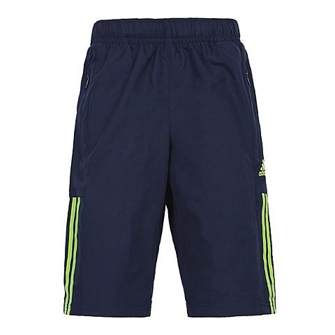 adidas阿迪达斯新款专柜同款男小童梭织七分裤AP6482