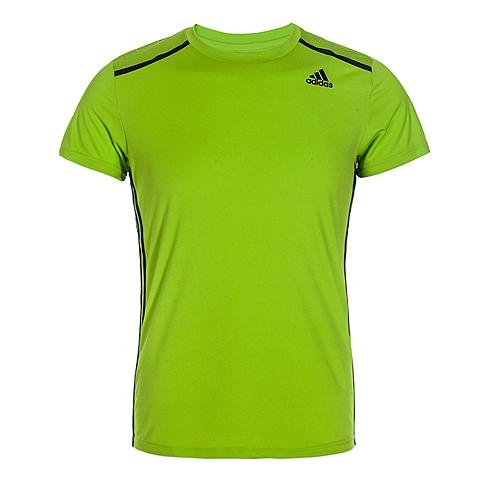 adidas阿迪达斯新款男子科技三条纹系列T恤AJ5509