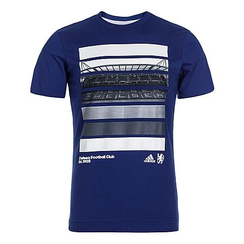 adidas阿迪达斯新款男子切尔西系列圆领短袖T恤AP6146