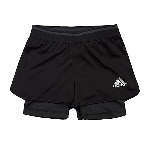 adidas阿迪达斯新款专柜同款女大童CLIMA系列针织短裤AJ7380