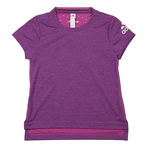 adidas阿迪达斯新款专柜同款女大童CLIMA系列短袖T恤AJ7373