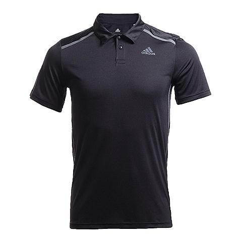 adidas阿迪达斯新款男子科技三条纹系列POLO短袖T恤AJ5519