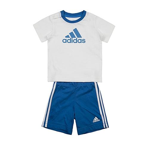 adidas阿迪达斯新款专柜同款男婴童短袖套服AK2607
