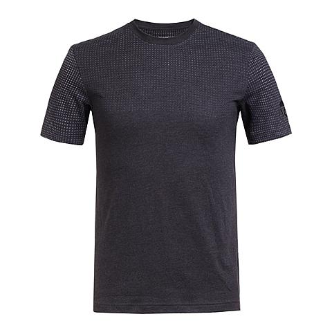 adidas阿迪达斯新款男子科技三条纹系列T恤AI4460