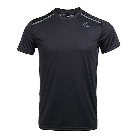 adidas阿迪达斯2016年新款男子科技三条纹系列T恤AJ5503