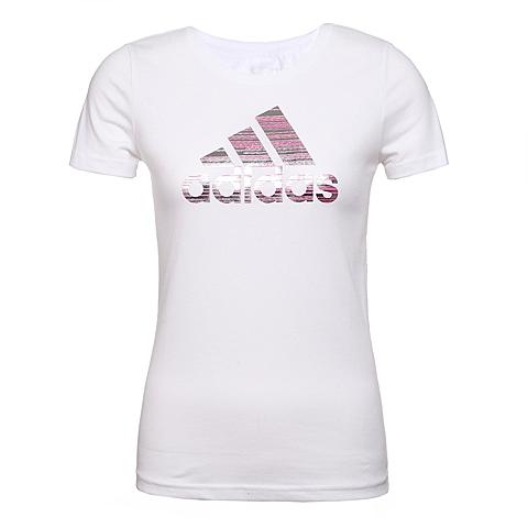 adidas阿迪达斯新款女子运动休闲系列T恤AZ9462