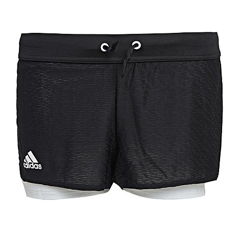 adidas阿迪达斯2016年新款女子网球基础系列针织短裤AJ3235