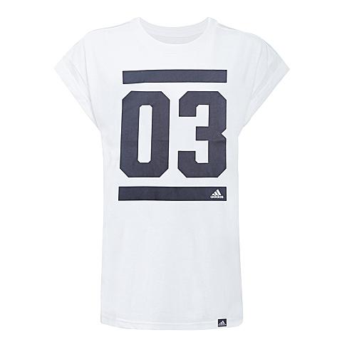 adidas阿迪达斯2016年新款女子运动休闲系列短袖T恤AI6112