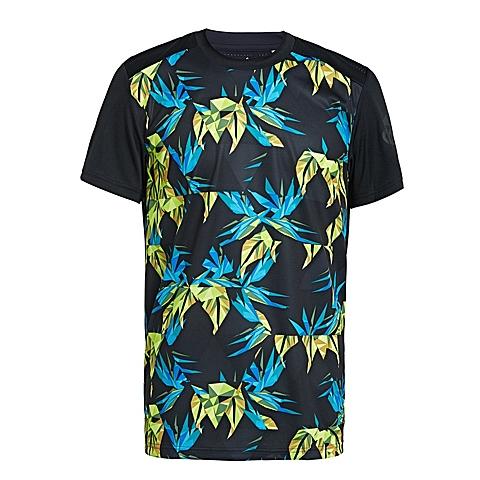 adidas阿迪达斯新款男子科技三条纹系列短袖T恤AK0632