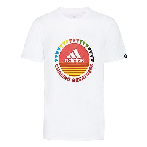 adidas阿迪达斯新款男子运动休闲系列短袖T恤AP6417