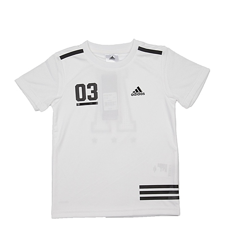 adidas阿迪达斯新款专柜同款男小童短袖T恤AP6446
