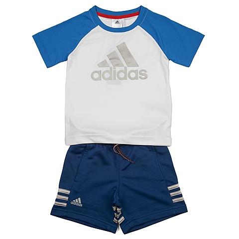 adidas阿迪达斯新款专柜同款男小童短袖套服AK1939