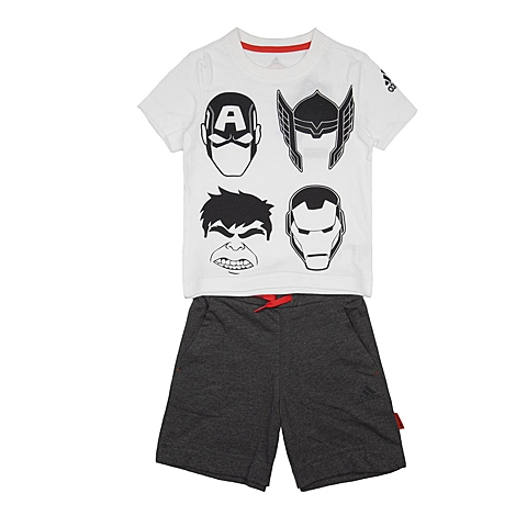 adidas阿迪达斯新款专柜同款男小童迪士尼系列短袖套服AK2529