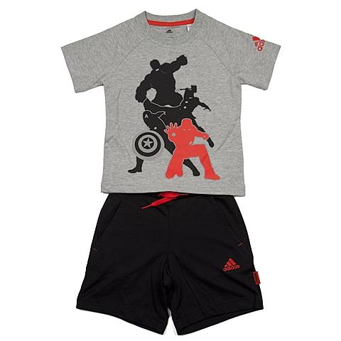 adidas阿迪达斯新款专柜同款男小童迪士尼系列短袖套服AK2530