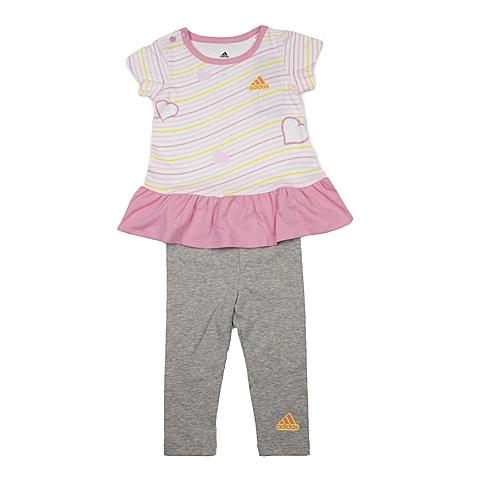 adidas阿迪达斯新款专柜同款女婴童短袖套服AP6385