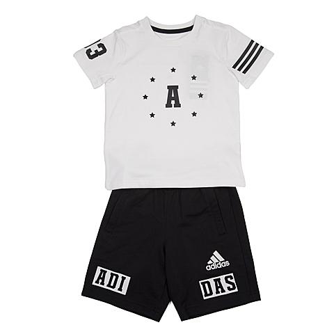 adidas阿迪达斯新款专柜同款男小童短袖套服AP6424