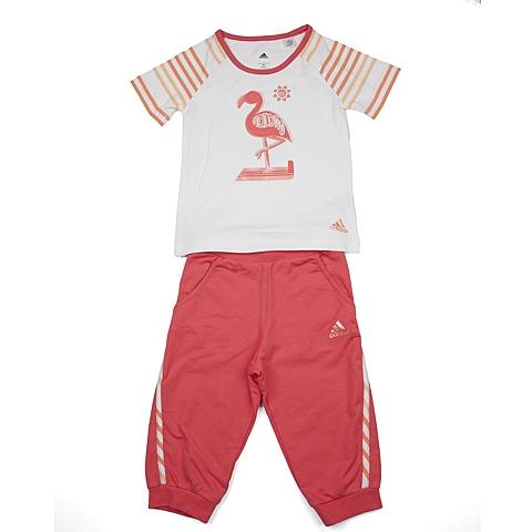 adidas阿迪达斯新款专柜同款女小童短袖套服AP6468