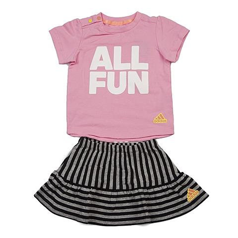 adidas阿迪达斯新款专柜同款女婴童短袖套服AX8749