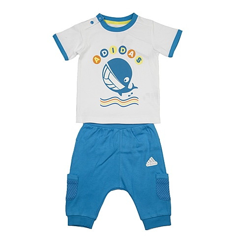 adidas阿迪达斯2016新款专柜同款男婴童短袖套服AP6382