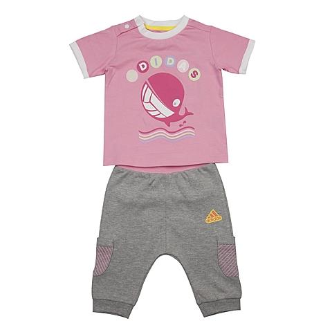 adidas阿迪达斯新款专柜同款女婴童短袖套服AP6383