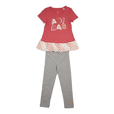 adidas阿迪达斯新款专柜同款女小童短袖套服AP6458