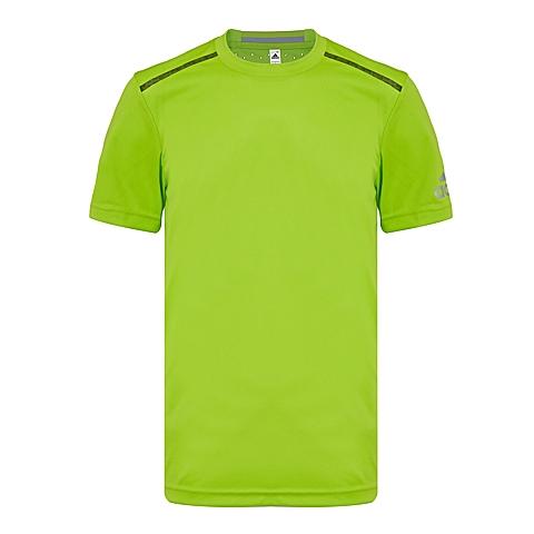 adidas阿迪达斯新款男子科技三条纹系列T恤AZ0696