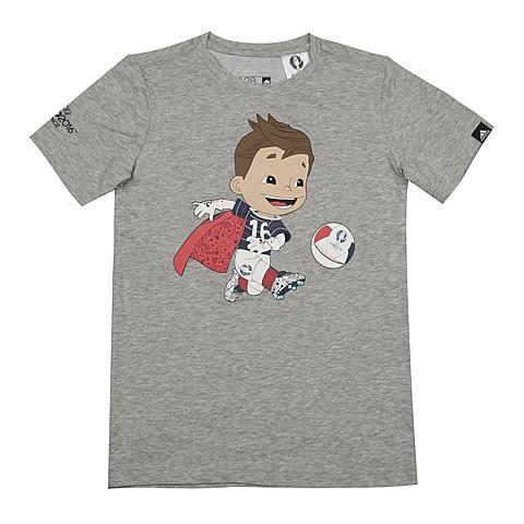 adidas阿迪达斯新款专柜同款男大童足球欧冠系列短袖T恤AI5667