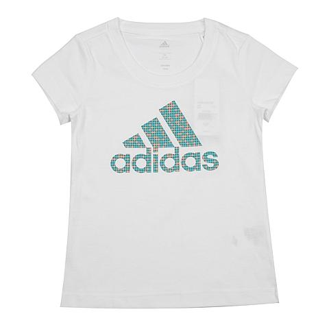 adidas阿迪达斯2016新款专柜同款女大童短袖T恤AK2057