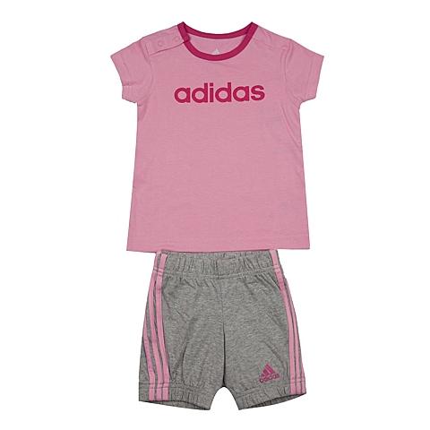 adidas阿迪达斯新款专柜同款女婴童短袖套服AK2610