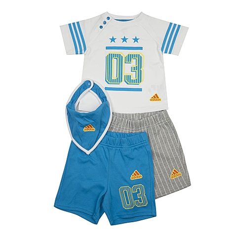 adidas阿迪达斯新款专柜同款男婴童短袖套服AP6390