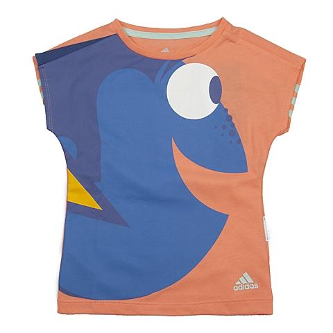 adidas阿迪达斯新款专柜同款女小童迪士尼系列短袖T恤AY6055