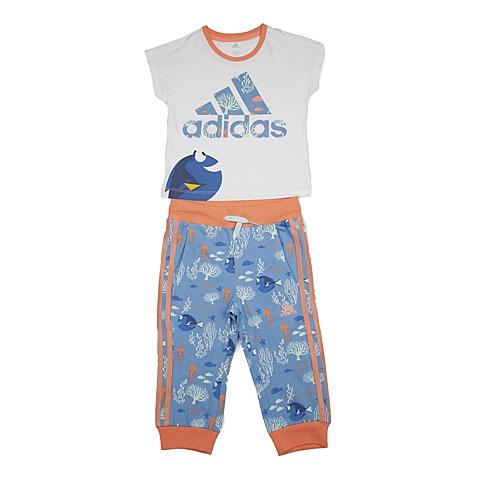 adidas阿迪达斯新款专柜同款女小童迪士尼系列短袖套服AY6058