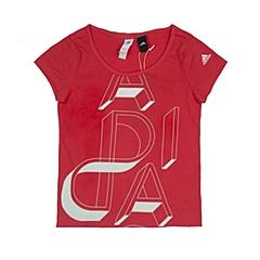 adidas阿迪达斯2016新款专柜同款女大童短袖T恤AY5344