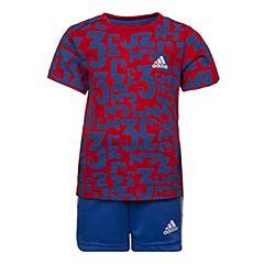 adidas阿迪达斯2017新款男婴童I SUM SET COUNT短袖套服BK3004