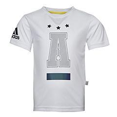 adidas阿迪达斯2017新款男小童LB SS CL TEE2短袖T恤BR6114
