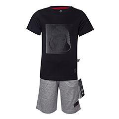 adidas阿迪达斯2017新款男小童LB DY SW SU SET星球大战系列黑武士短袖套服BK1407