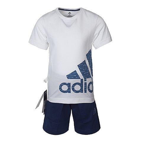 adidas阿迪达斯2017新款男小童LK LOGO SUM SET短袖套服BP9359