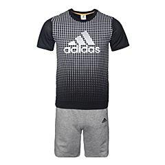 adidas阿迪达斯2017新款男大童YB SS CL TEE SE短袖套服BS0994