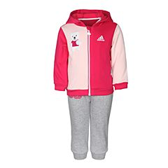 adidas阿迪达斯2017新款女婴童IN F FZ HDY SET长袖套服CG0403
