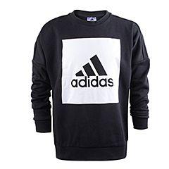 adidas阿迪达斯2017新款男大童YB LOGO CREW套头衫CE8641