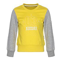 adidas阿迪达斯女小童LG CREW SWEAT套头衫CE8241