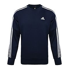 adidas阿迪達斯男子ESS 3S CREW B針織套衫BQ9644