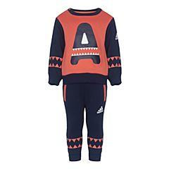 adidas阿迪达斯女婴-小童LK HLW FZ HDY S长袖套服CE8227