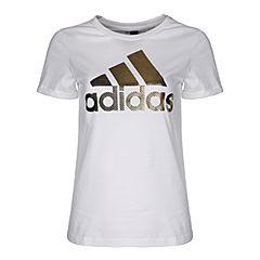 adidas阿迪达斯2018女子GFX T FOIL LOGO圆领短T恤CX5163