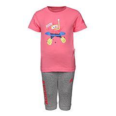 adidas阿迪达斯2018女婴童IN TEE 34 SET2短袖套服CX3472