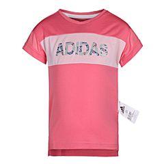 adidas阿迪达斯2018女小童LG SS TEE短袖T恤CV5398